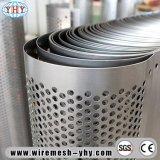 Pipe en aluminium de tube de feuille en métal perforé de prix bas