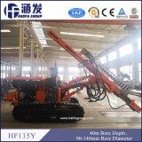 Diamètre d'alésage hydraulique de la profondeur 40m d'alésage d'équipement de foret de la plate-forme de forage Hf115y de mine 90-140mm