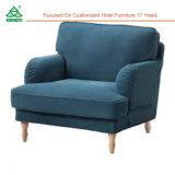 Hotel Sala de estar Sofá tela / Professional moderno sofá individual