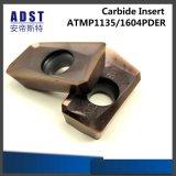 Вставка карбида твердости 45 HRC Apmt1135pder R0.4