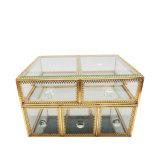 Casella di memoria di vetro multifunzionale di lusso dei monili dell'oro