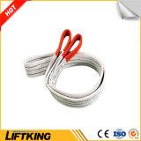 Colore rosso dell'imbracatura piana della tessitura del poliestere di marca 5t di Liftking (imbracatura di sollevamento)
