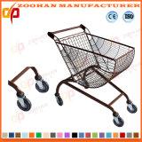 Цинк или покрынная кромом тележка магазина вагонетки покупкы супермаркета (Zht77)