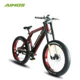 Vordere Gabel-elektrisches Fahrrad des Strand-Kreuzer-fettes Gummireifen-48V500W Suspention