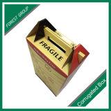 Caixa de empacotamento do portador da cerveja do vinho das lojas isentas de direitos aduaneiros