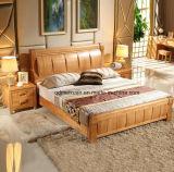 固体木のベッドの現代ダブル・ベッド(M-X2329)
