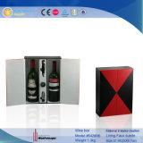 Contenitore impaccante di vino di cuoio nero & rosso (5428 serie)