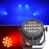Verlichting van de Gebeurtenis van het Stadium van de waterdichte LEIDENE Disco RGBW 12X10W van het PARI de Lichte