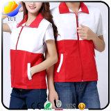 Maglia personalizzata di marchio che fa pubblicità alla maglia della chiusura lampo dei vestiti