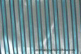 Tela del amortiguador del diseño de la tira del telar jacquar en color azul