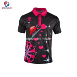 カスタム男子ゴルフワイシャツの昇華スポーツ・ウェアは適当なポロシャツを乾燥する