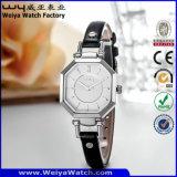 Wristwatches повелительниц кварца вахты кожаный планки фабрики вскользь (Wy-073D)