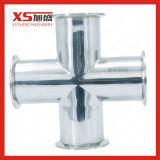 La higiene de acero inoxidable SS304 el saneamiento de sujeción de tres años, la T
