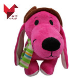 واقعيّة [30كم] عال يحشى صنع وفقا لطلب الزّبون قطيفة كلب لعبة مع وشاح