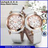 Relojes de la manera de los pares del reloj de la correa de cuero del ODM (Wy-072GA)