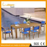 전천후 내화성이 있는 아이들 테이블 및 의자는 현대 옥외 정원 안뜰 실제적인 알루미늄 나무로 되는 가구를 놓았다
