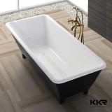 Tina de baño de piedra libre oval superficial sólida de Kingkonree