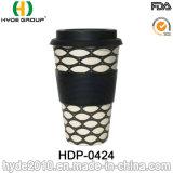 Taza de café de bambú popular de la fibra 450ml con la tapa del silicón
