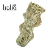 Colore sintetico del piano dei capelli di alta qualità una clip da 22 pollici in capelli
