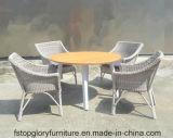 Верхнюю часть славы для использования вне помещений алюминиевая рама плетеной чай таблица стул,