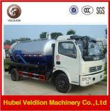 4X2 7500litro/7.5Cbm/7,5 m3/7500L caminhão de esgoto de Sucção