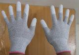 Couleur gris antistatique ESD gant avec revêtement polyuréthane