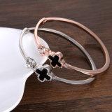 Armband van de Diamant van het Roestvrij staal van de Juwelen van de Manier van Luckly de Gouden