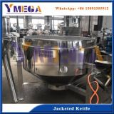 Acero inoxidable de inclinación de la maquinaria de procesamiento de alimentos pava chaqueta de cocina