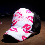 Gorra de béisbol impresa negro del acoplamiento de la historieta