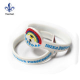 Prix bon marché Logo personnalisé gravé Bracelet en silicone d'encre