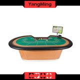 Berufsluxuxbaccarat-Schürhaken-Tisch mit Spielerbaccarat-Schürhaken-Tisch-Fertigung des Chip-Tellersegment-9 (YM-BA07)