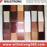 Алюминиевая составная панель деревянная для фасада
