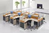 Modernes L Form-hölzerne Büro-Tisch-Arbeitsplatz-Partition (SZ-WST758)