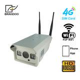 Cámara sin hilos del IP de la seguridad de la tarjeta de la casa impermeable 3G 4G SIM