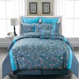Полиэфир 100%/жаккард синих хлопков для комплекта постельных принадлежностей взрослых
