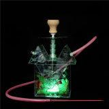 De Waterpijp van de theepot met Pijp van het Glas van de Waterpijp van de Verstuiver van de Sigaret van Shisha E van de Waterpijp Cigarett van de Pijp van het Glas van de LEIDENE Toebehoren van Shisha de Rokende Mini Elektronische