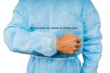 Beca Médico Cirúrgica descartáveis, vestido de isolamento com manguito de malha