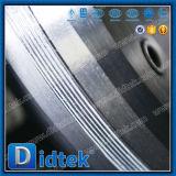 При низкой температуре Didtek тройной смещение двухстворчатый клапан
