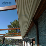 Tente escamotable imperméable à l'eau motorisée de Pergola de PVC de patio en aluminium de paquet avec l'éclairage LED