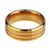 De in het groot Hete Verkoop poetste hoog de Ring van de Groef van het Wolfram van Gouden Mensen op