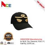 Gorra de béisbol del Snapback del panel de la aduana 6 con insignia del bordado del oro 3D