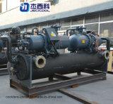 Tipo refrigerado por agua refrigerador del compresor del tornillo de Hanbell de 100 toneladas de agua