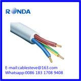 3 cable eléctrico flexible del sqmm de la base 10