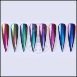 Ногти зеркала Multi-Крома радуги, порошок пигмента заполированности геля хамелеона