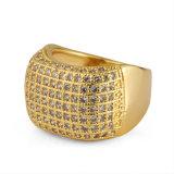 De Gouden Juwelen van de Trouwring van de Vrouwen van de Diamant van het Roestvrij staal van de manier
