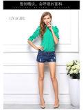偶然の長い袖の軽くて柔らかい女性のブラウスの気が長いワイシャツの緩く軽くて柔らかいワイシャツ