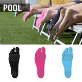 Etiqueta invisível emparelhada do pé da proteção dos pés da almofada da sapata da praia descalça Non-Slip