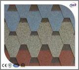 Tejas de asfalto reforzado de fibra de vidrio/asfalto Plaqueta