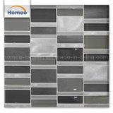 Mezcla de aluminio de alta calidad de la pared negra brillante azulejo mosaico de vidrio
