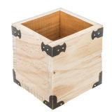 صندوق غيرمكتمل خشبيّة مع [متل كرنر] مبتكرة قلم حامل
